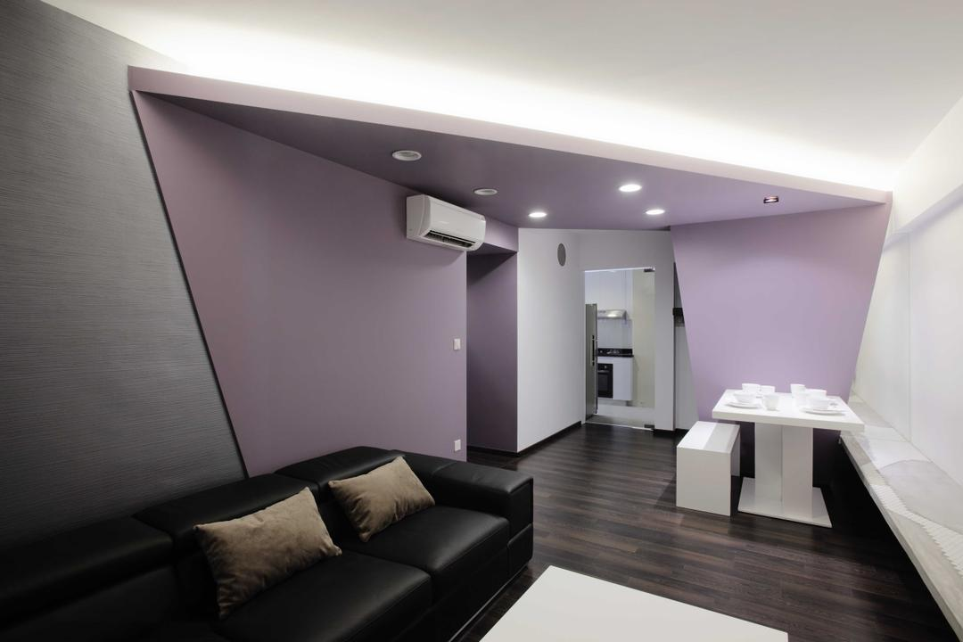 Punggol, The Design Practice, Transitional, Living Room, HDB, Wall Feature, Bench, Sofa, Concealed Lighting, Spotlight, Chair, Furniture, Bathroom, Indoors, Interior Design, Room, Building, Housing, Loft