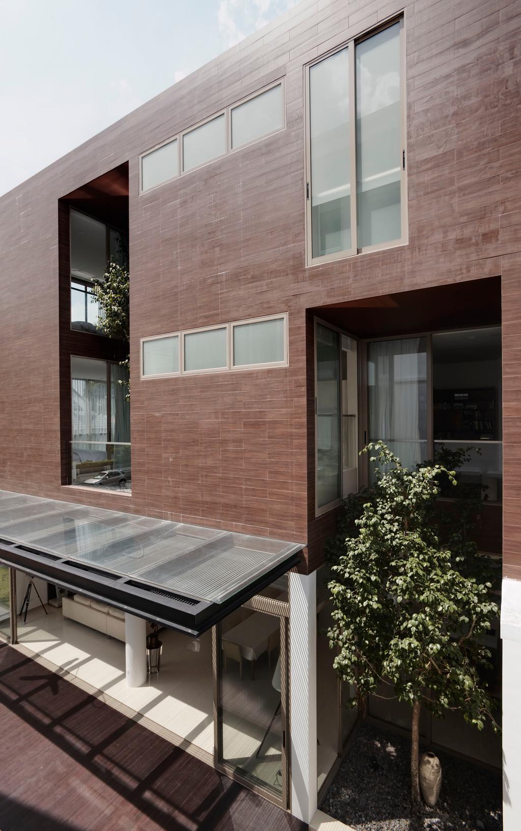 Modern, Landed, 21 Jalan Mariam, Architect, Lim Ai Tiong (LATO) Architects, Flora, Jar, Plant, Potted Plant, Pottery, Vase, Brick, Porch