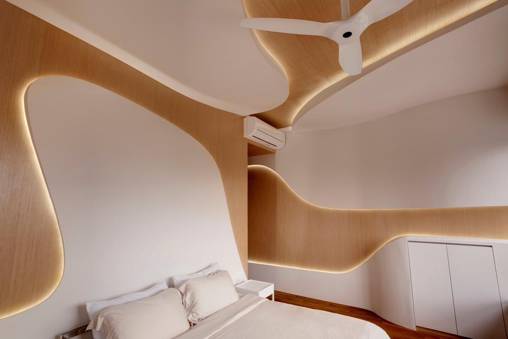 Contemporary, Condo, Bedroom, D'Leedon, Architect, Lim Ai Tiong (LATO) Architects, Furniture, Chair, Plywood, Wood