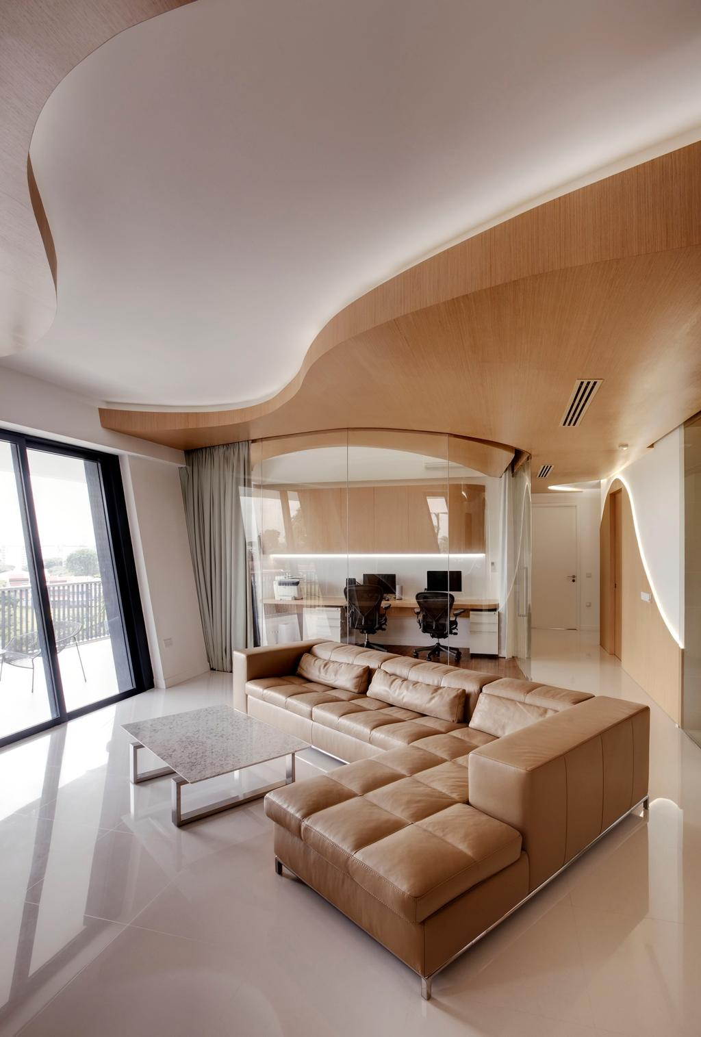 Contemporary, Condo, Living Room, D'Leedon, Architect, Lim Ai Tiong (LATO) Architects, Couch, Furniture, Indoors, Interior Design