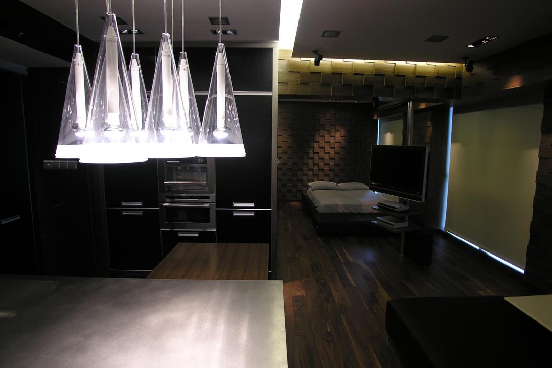 Gluocester Mansion, Lim Ai Tiong (LATO) Architects, Modern, Condo, HDB, Building, Housing, Indoors, Loft, Lighting, Aircraft, Airplane, Transportation, Flooring