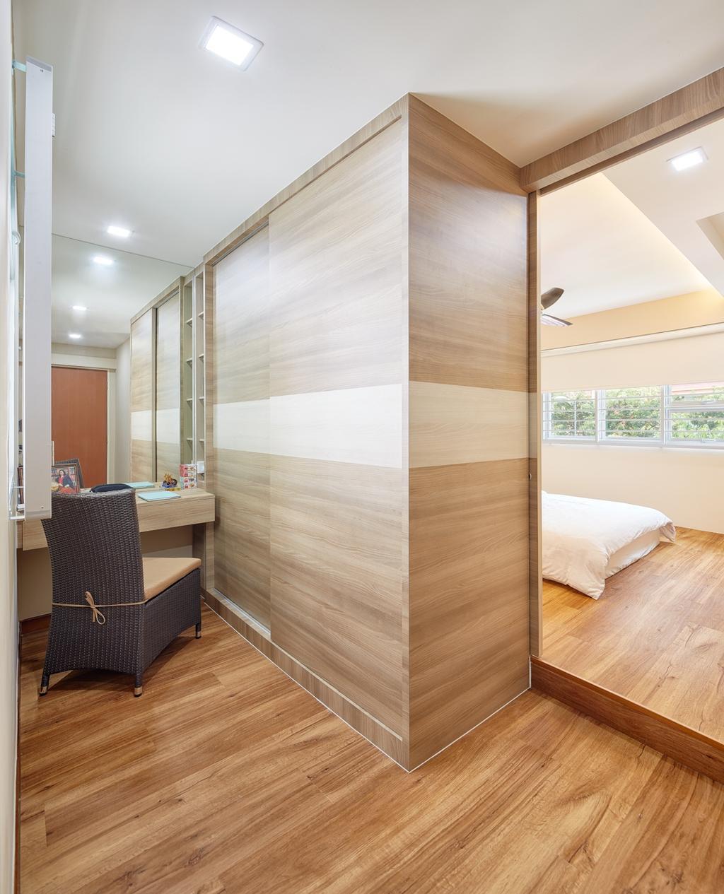 Modern, HDB, Bedroom, Tree Trail at Woodlands, Interior Designer, Absolook Interior Design, Chair, Furniture