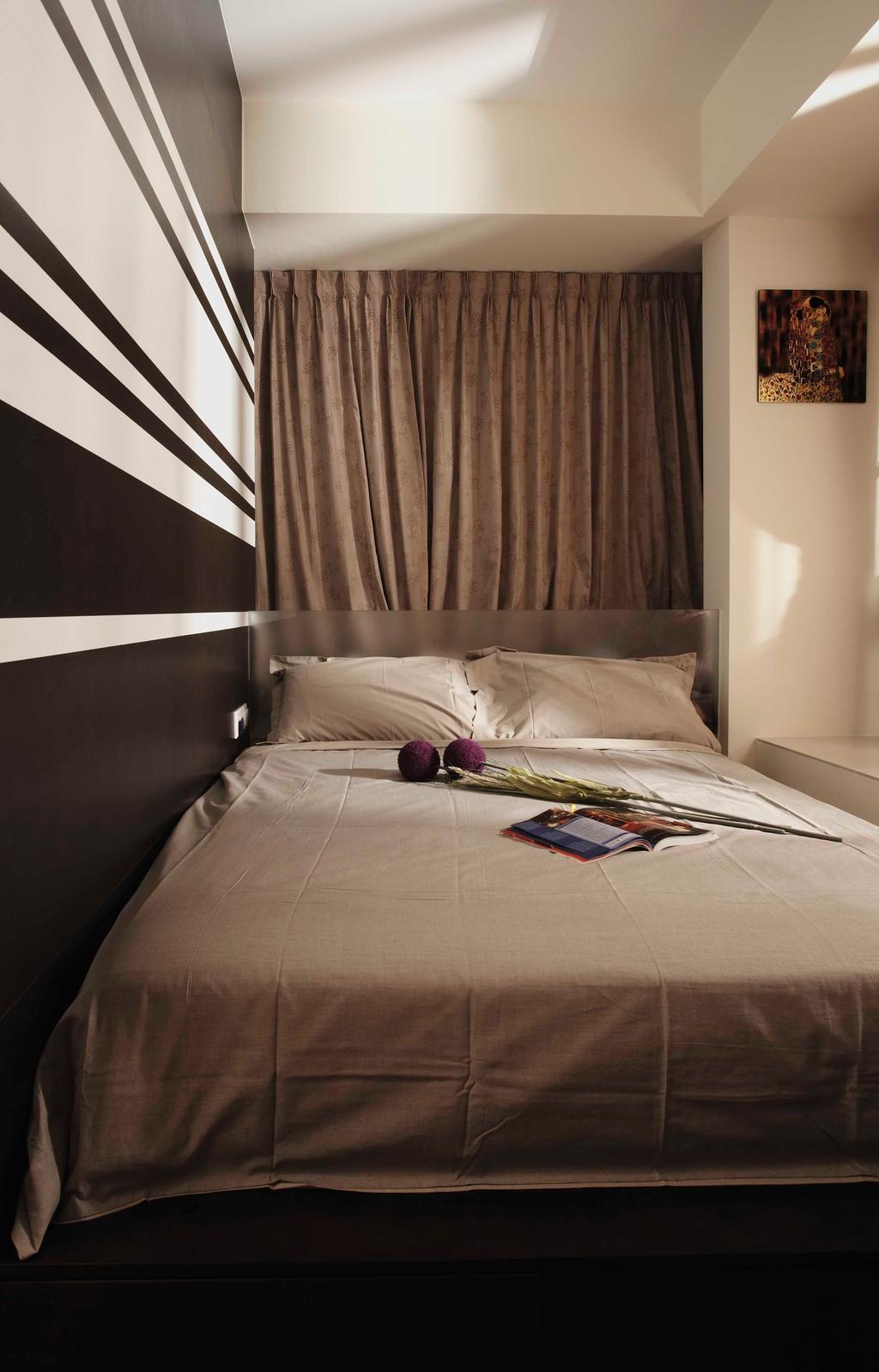 Traditional, Condo, Bedroom, Atrium Residences, Interior Designer, The Design Practice, Bed, Warm Tone, Platform, Furniture, Indoors, Interior Design, Room