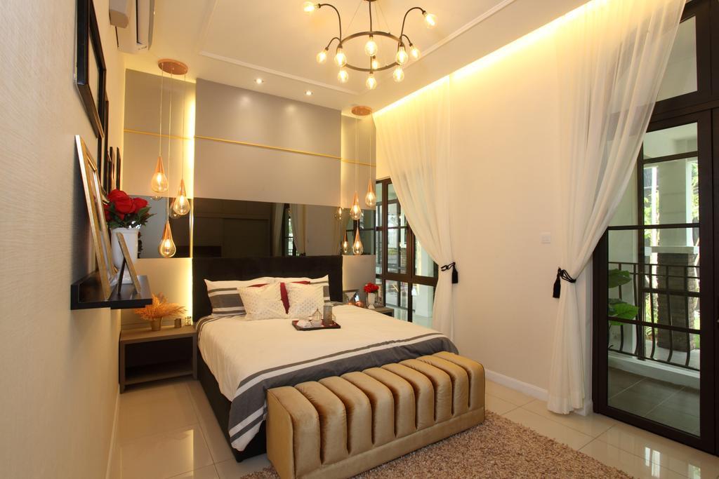 Contemporary, Landed, Bedroom, Isle Of Kamares Setia Eco Glades, Cyberjaya, Interior Designer, Nice Style Refurbishment, Bed, Furniture, Indoors, Interior Design, Room
