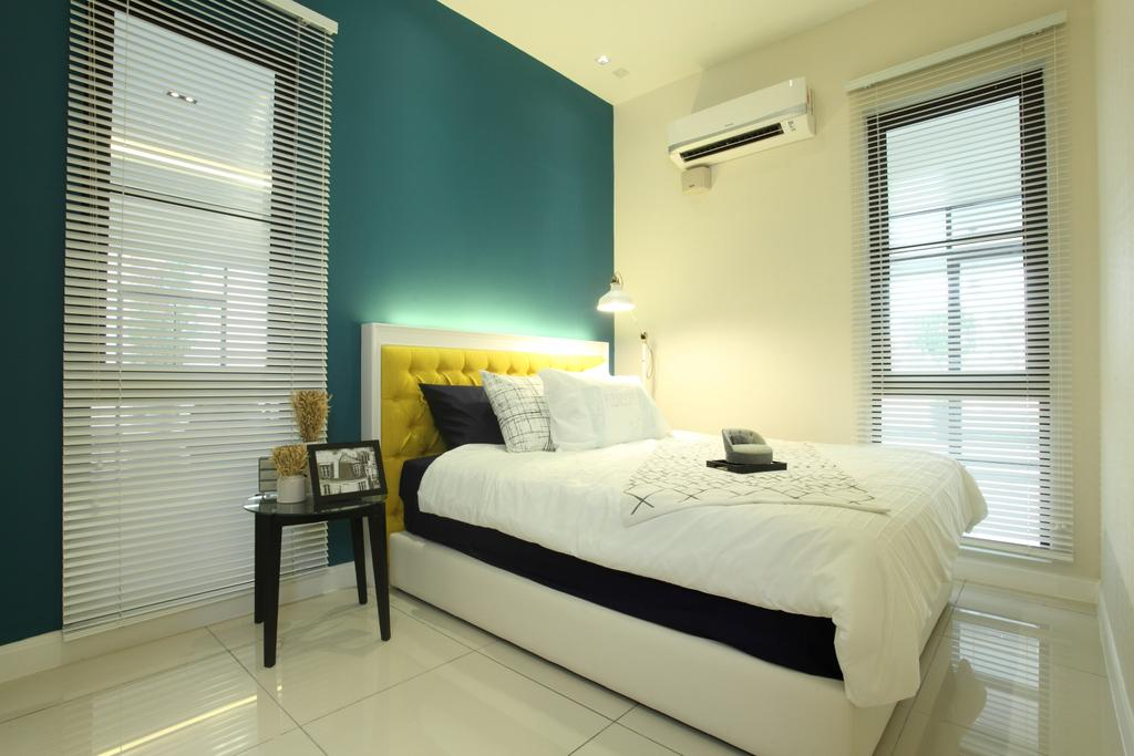 Contemporary, Landed, Bedroom, Isle Of Kamares Setia Eco Glades, Cyberjaya, Interior Designer, Nice Style Refurbishment, Molding, Bed, Furniture, Indoors, Interior Design, Room