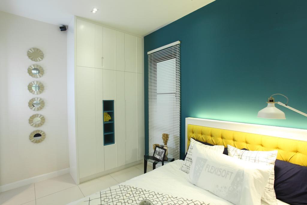 Contemporary, Landed, Bedroom, Isle Of Kamares Setia Eco Glades, Cyberjaya, Interior Designer, Nice Style Refurbishment, Indoors, Interior Design, Bed, Furniture, Room