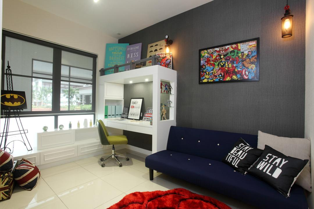 Isle Of Kamares Setia Eco Glades, Cyberjaya, Nice Style Refurbishment, Contemporary, Study, Landed, Indoors, Office, Room