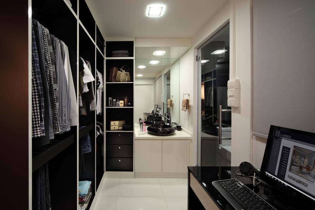 Bedok Reservoir Road (Block 147), Urban Design House, Modern, Bedroom, HDB, Wadrobe, Shelves, Recessed Lightings, Mirror, Marble Floor
