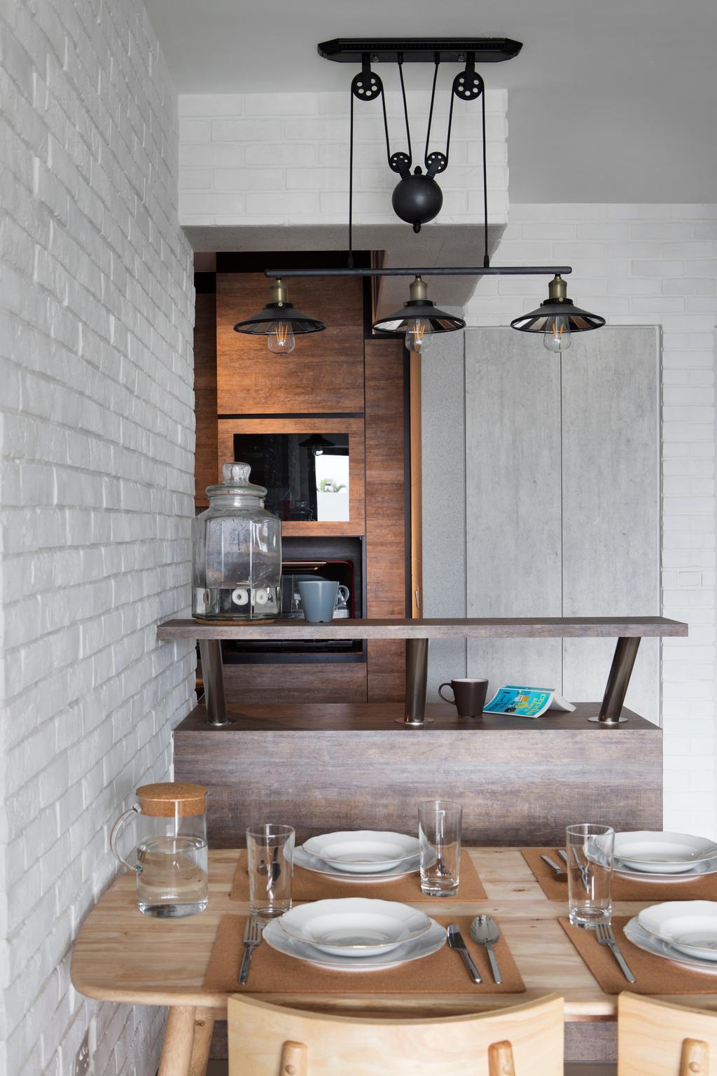 Scandinavian, HDB, Dining Room, Punggol Drive (Block 678B), Interior Designer, Urban Design House