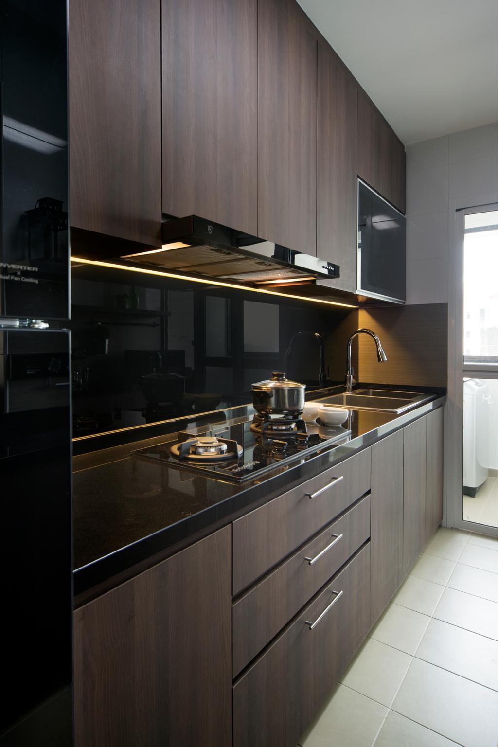 Contemporary, HDB, Kitchen, Compassvale Crescent (Block 293D), Interior Designer, Urban Design House