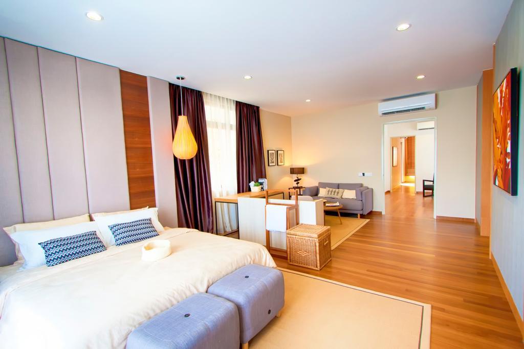 Modern, Landed, Bedroom, 3 Storey Semi-Detached House, Sutera Utama, Interior Designer, Oriwise Sdn Bhd, Indoors, Interior Design, Room, Bed, Furniture