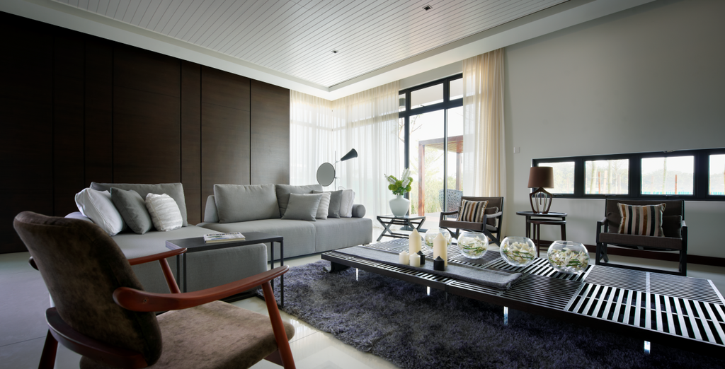 Modern, Landed, Living Room, The Straits View Residences, Interior Designer, Oriwise Sdn Bhd, Couch, Furniture, Indoors, Room, Interior Design
