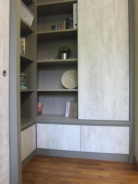 Modern, Condo, Study, Sunhaven, Interior Designer, The Design Practice, Storage, Display Unit, Shelves, Wood Laminate, Wood, Parquet