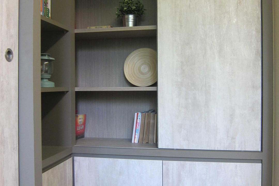 Sunhaven, The Design Practice, Modern, Study, Condo, Storage, Display Unit, Shelves, Wood Laminate, Wood, Parquet