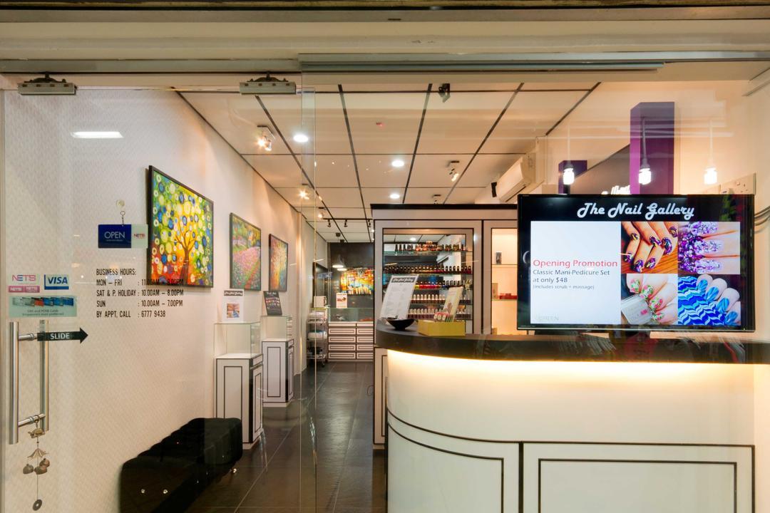 Clementi 1, Unity ID, Transitional, Commercial, Shop Exterior, Shop Front, Shop Entrance, Counter, Shop Counter, Entrance, Exit, Glass Door, Open Concept, Tile, Tiles, Monochrome