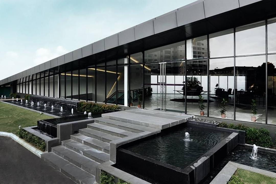 Show Unit Mont Kiara, One Space Sdn Bhd, Contemporary, Balcony, Landed, Building, House, Housing, Villa, Pool, Water, Fountain