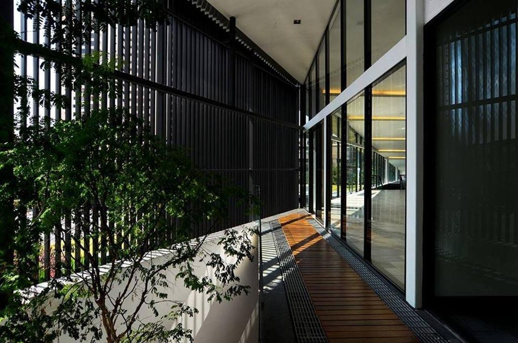 Contemporary, Landed, Balcony, Show Unit Mont Kiara, Interior Designer, One Space Sdn Bhd, Flora, Plant, Vine