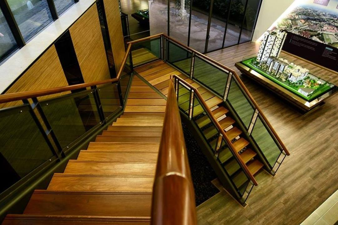 Show Unit Mont Kiara, One Space Sdn Bhd, Contemporary, Landed, Hardwood, Stained Wood, Wood, Banister, Handrail