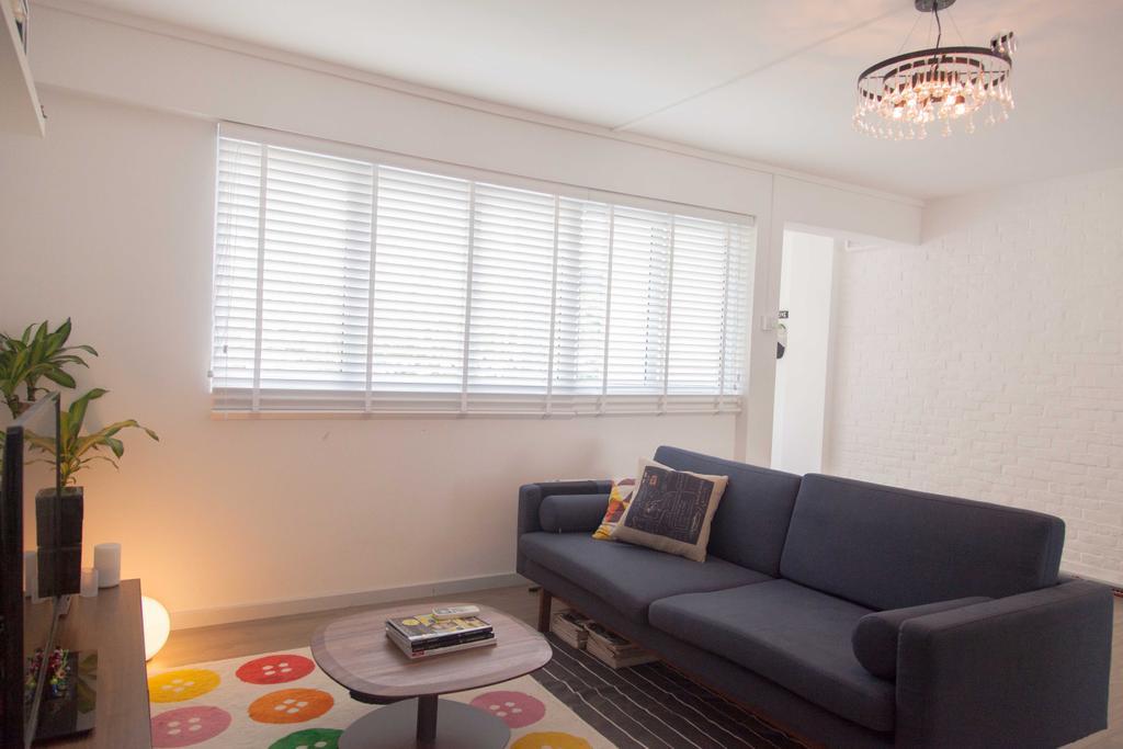 Scandinavian, HDB, Living Room, Serangoon, Interior Designer, Juz Interior, Couch, Furniture, Light Fixture, Flora, Jar, Plant, Potted Plant, Pottery, Vase