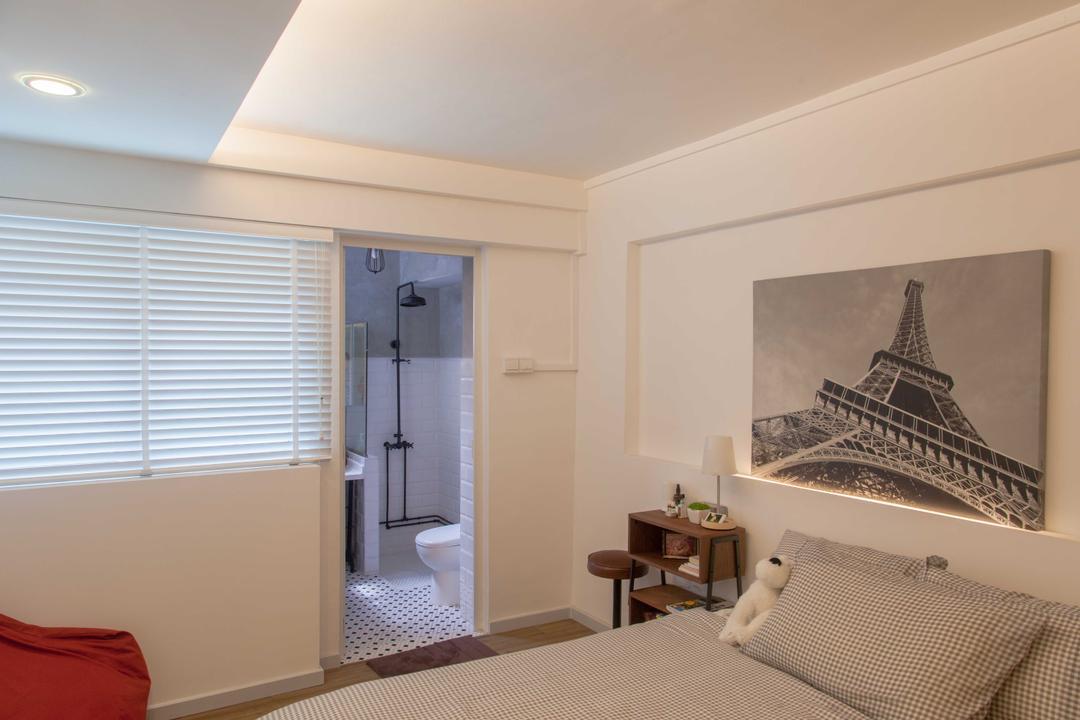 Serangoon, Juz Interior, Scandinavian, Bedroom, HDB, Blinds, Portrait, Architecture, Building, Tower, Indoors, Interior Design, Room