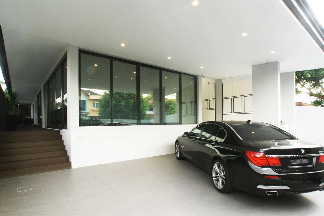 Jalan Seaview, Metamorph Design, Modern, Garden, Landed, Exterior, Outdoor, Automobile, Car, Coupe, Sports Car, Transportation, Vehicle, Corridor