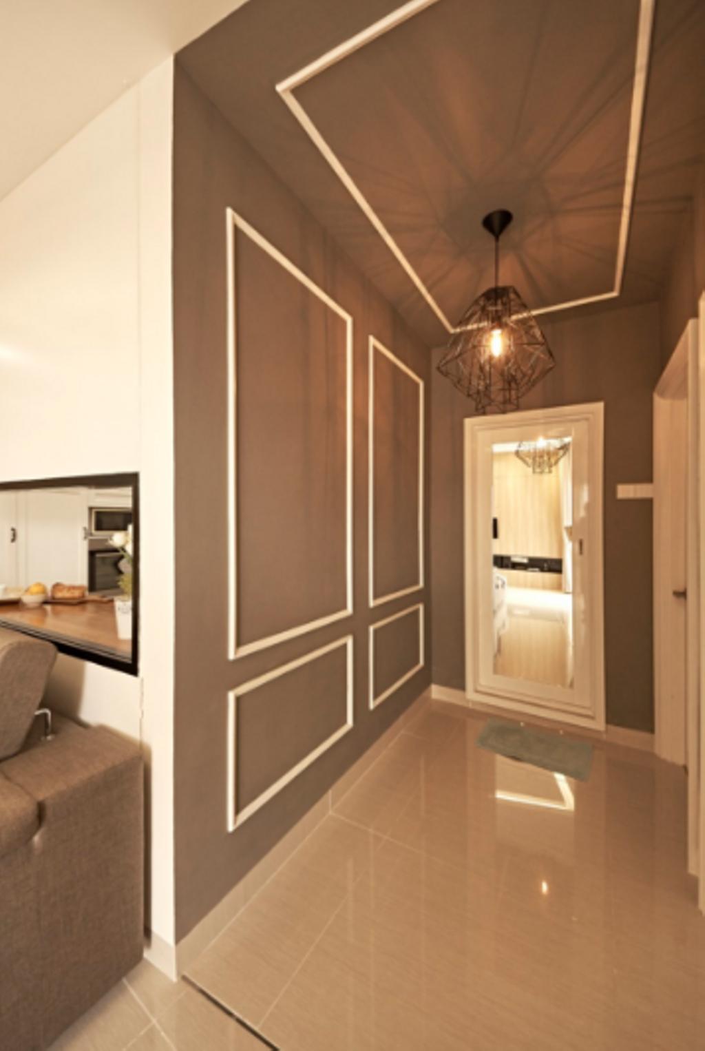 Minimalistic, Condo, Living Room, Pelangi Damansara, Damansara, Interior Designer, GI Design Sdn Bhd, Modern, Light Fixture, Door, Sliding Door, Indoors, Interior Design