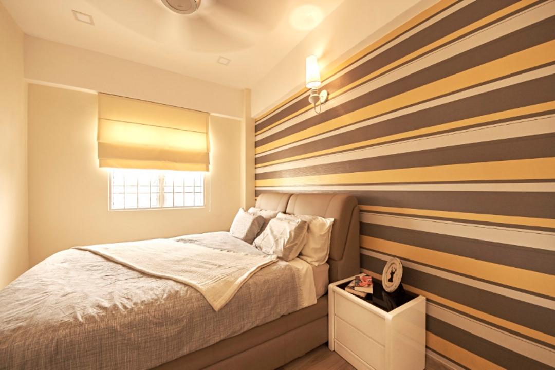 Pelangi Damansara, Damansara, GI Design Sdn Bhd, Minimalistic, Modern, Bedroom, Condo, Indoors, Interior Design, Room, Bed, Furniture, Drawer