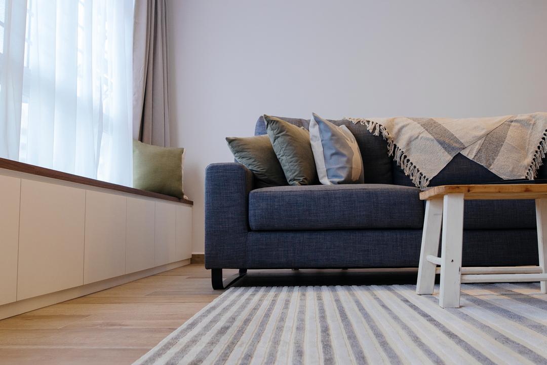 Upper Serangoon Crescent, The Local INN.terior 新家室, Scandinavian, Minimalistic, Living Room, HDB, Couch, Furniture, Architecture, Building, Column, Pillar