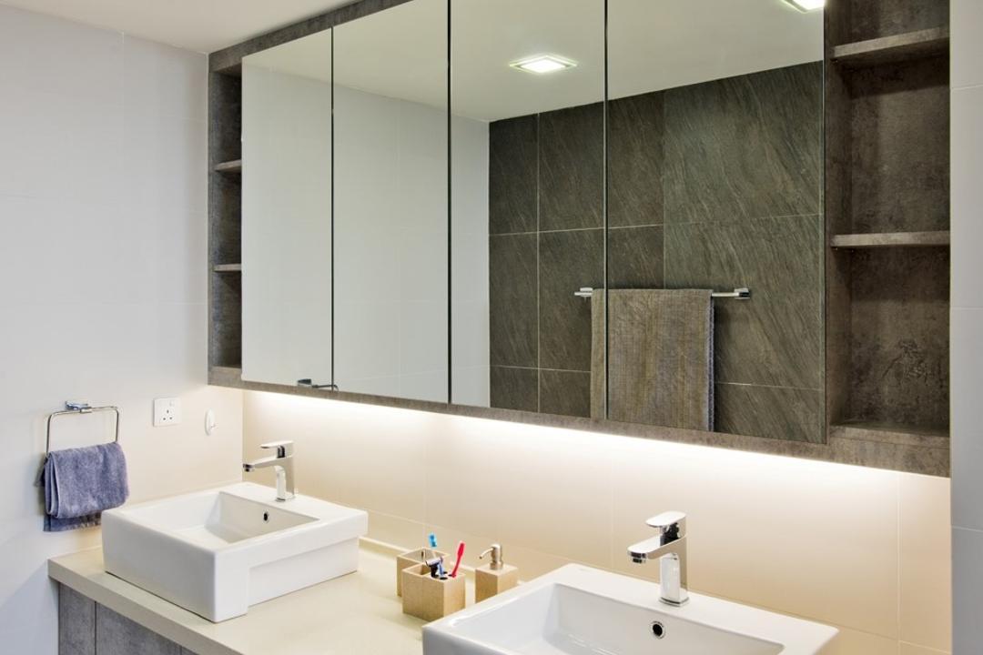 TTDI Plaza, Pocket Square, Minimalist, Modern, Bathroom, Condo, Indoors, Interior Design, Room, Tile
