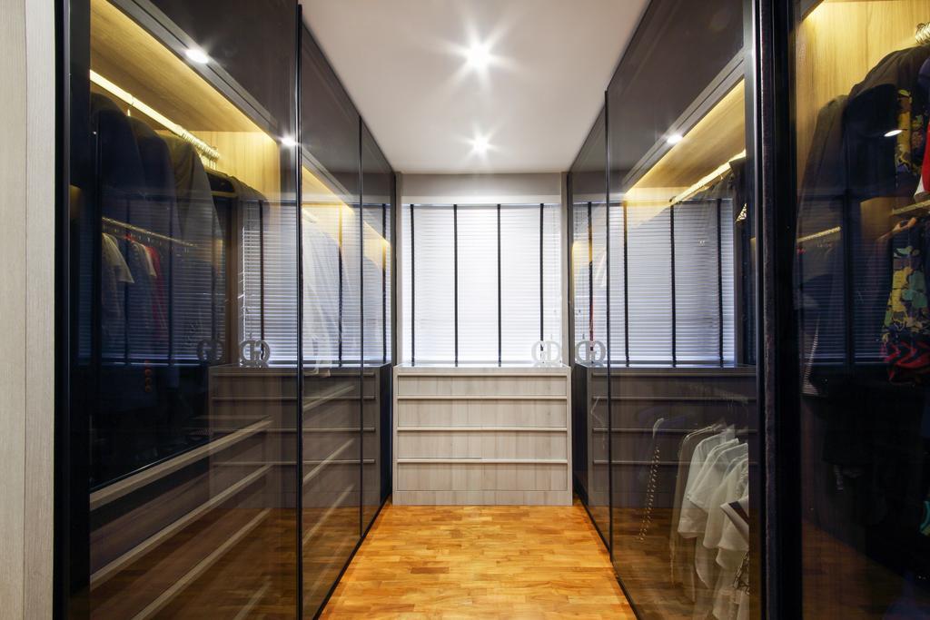 Contemporary, Condo, Bedroom, Twin Waterfalls, Interior Designer, Dap Atelier, Dark Glass, Glass Door, Sliding Door, Flooring