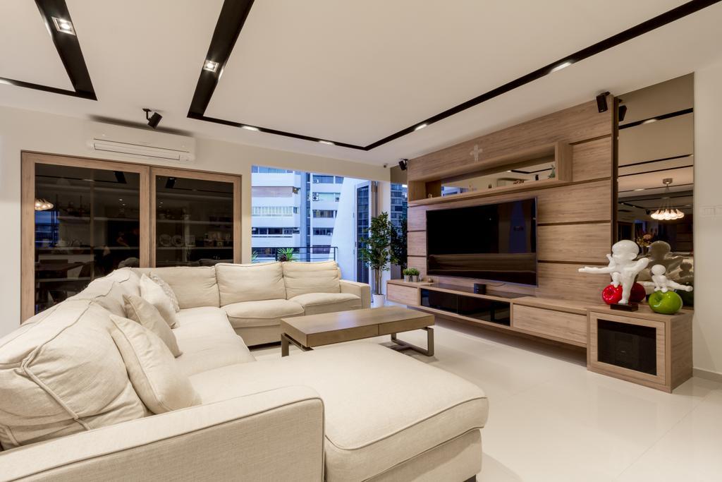 Modern, Condo, Living Room, Elizabeth Heights, Interior Designer, Fineline Design, Contemporary, Couch, Furniture, Electronics, Entertainment Center