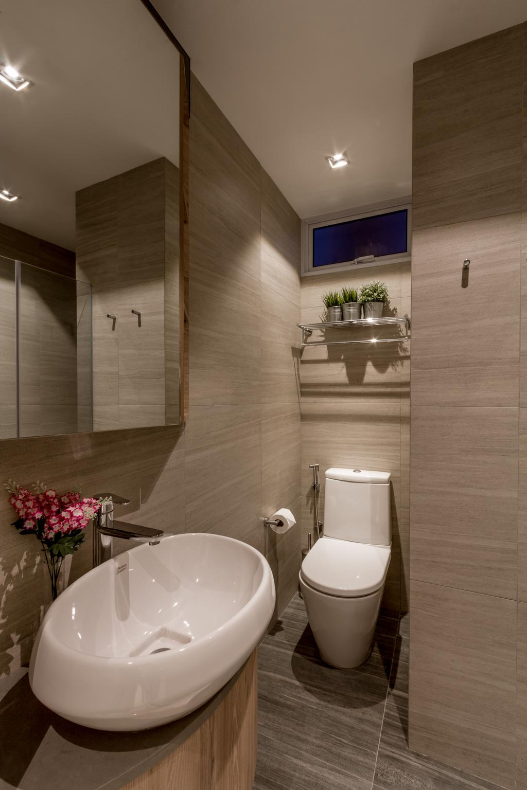 Modern, Condo, Bathroom, Elizabeth Heights, Interior Designer, Fineline Design, Contemporary, Flora, Jar, Plant, Potted Plant, Pottery, Vase, Indoors, Interior Design, Room