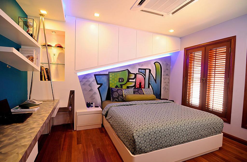 Modern, Condo, Bedroom, Kuala Lumpur, Interior Designer, In SPACE Concept Design, Contemporary, Indoors, Interior Design, Room