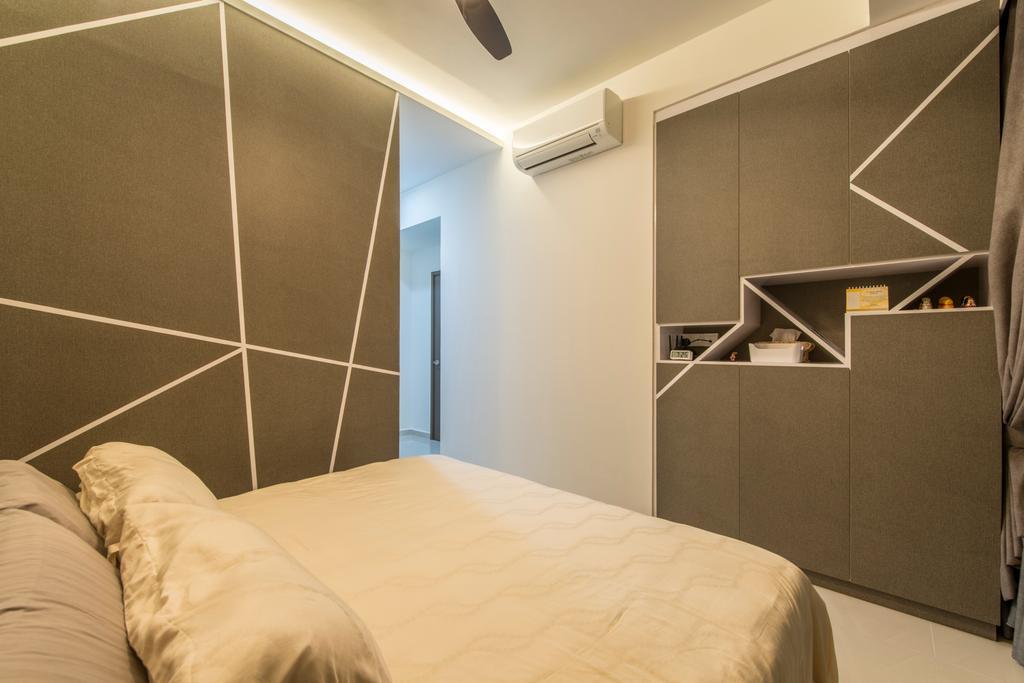 Modern, Condo, Bedroom, The Sterling, Interior Designer, Project Guru, Cove Lights, Wardrobe, Bed, Furniture