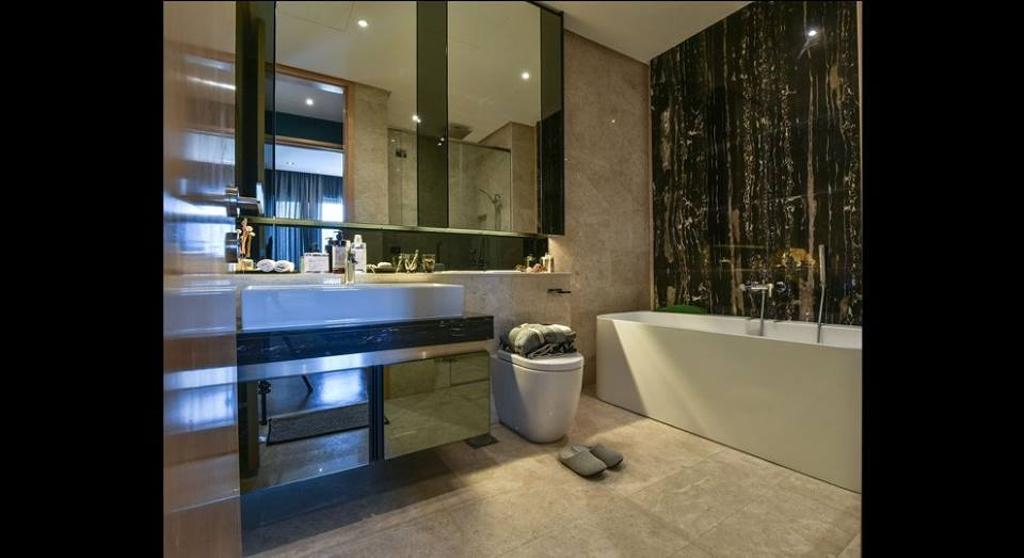 Minimalistic, Condo, Bathroom, Damansara City - Type A2, Interior Designer, Metrics Global Sdn Bhd, Indoors, Interior Design, Room, Bowl