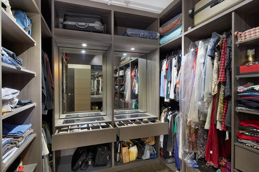 Choa Chu Kang Street 62 (Block 606), Absolook Interior Design, Transitional, HDB, Shelves, Walk In Wardrobe, Drawers, Track Light