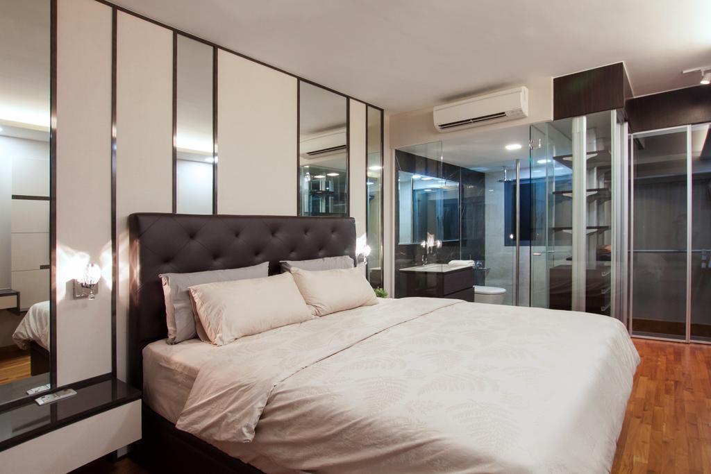 Modern, Condo, Bedroom, Waterfront Isle, Interior Designer, Space Atelier, Bed, Furniture