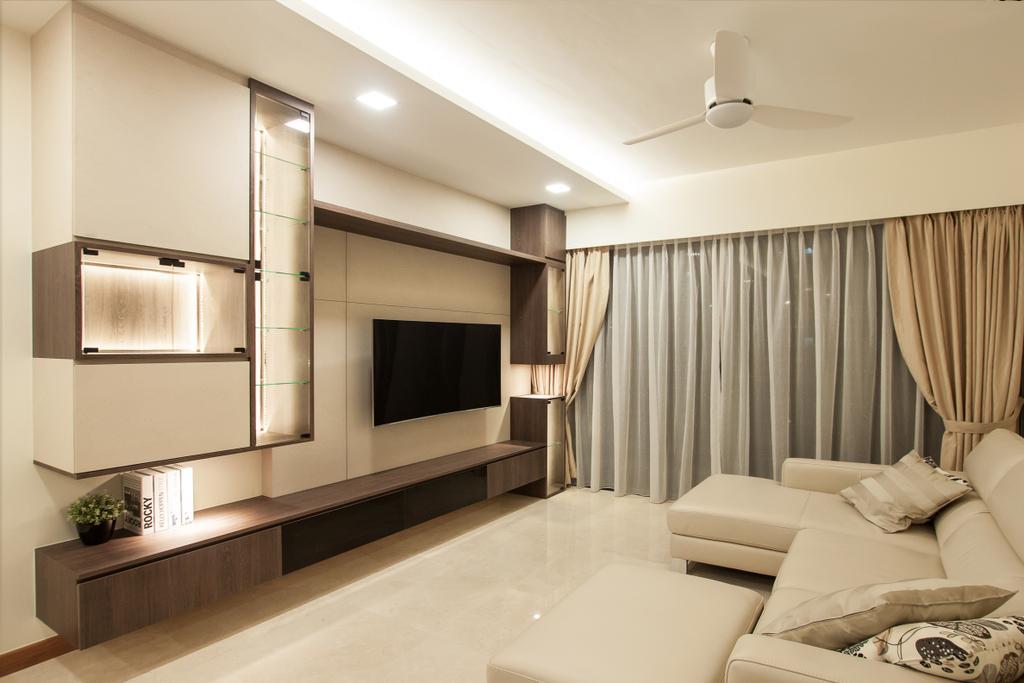 Modern, Condo, Living Room, Waterfront Isle, Interior Designer, Space Atelier, Indoors, Interior Design, Electronics, Entertainment Center, Home Theater