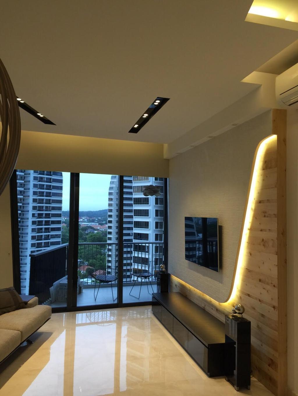 Modern, Condo, Living Room, Leedon Heights, Interior Designer, Yujia Interior Design, Contemporary