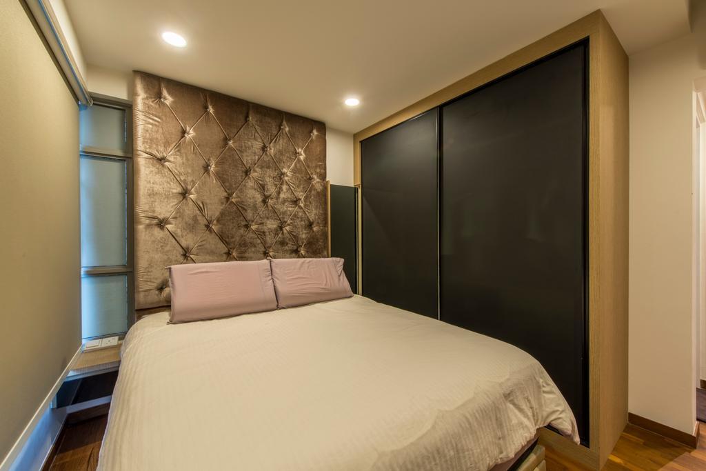 Modern, HDB, Bedroom, Parkland Residence, Interior Designer, Glamour Concept, Indoors, Interior Design, Room, Bed, Furniture