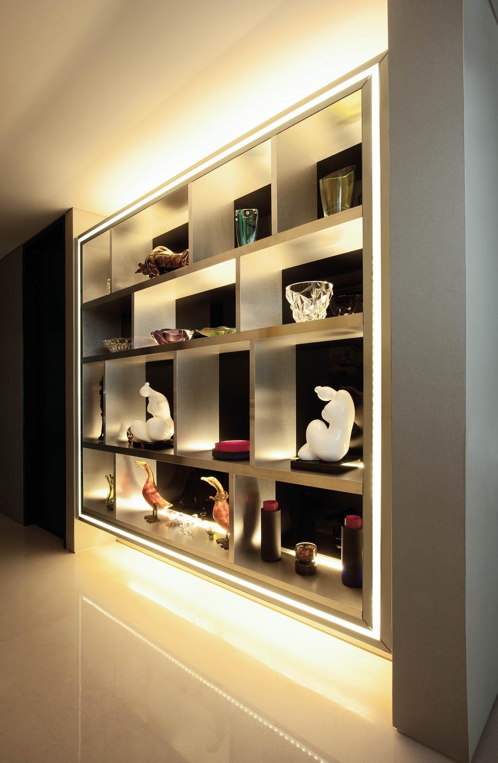 Modern, Landed, Living Room, Lakeshore View - Sentosa, Interior Designer, Starry Homestead, Display Cabinet, Display Shelf, Shelf, Art, Porcelain, Pottery