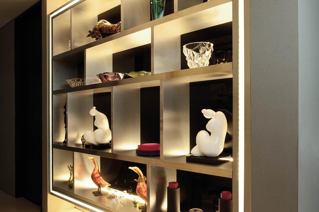 Lakeshore View - Sentosa, Starry Homestead, Modern, Living Room, Landed, Display Cabinet, Display Shelf, Shelf, Art, Porcelain, Pottery