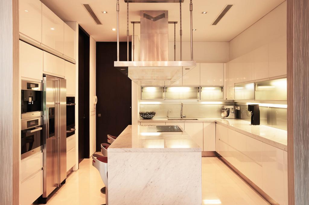 Modern, Landed, Kitchen, Lakeshore View - Sentosa, Interior Designer, Starry Homestead, Marble Counter, Island, Indoors, Interior Design