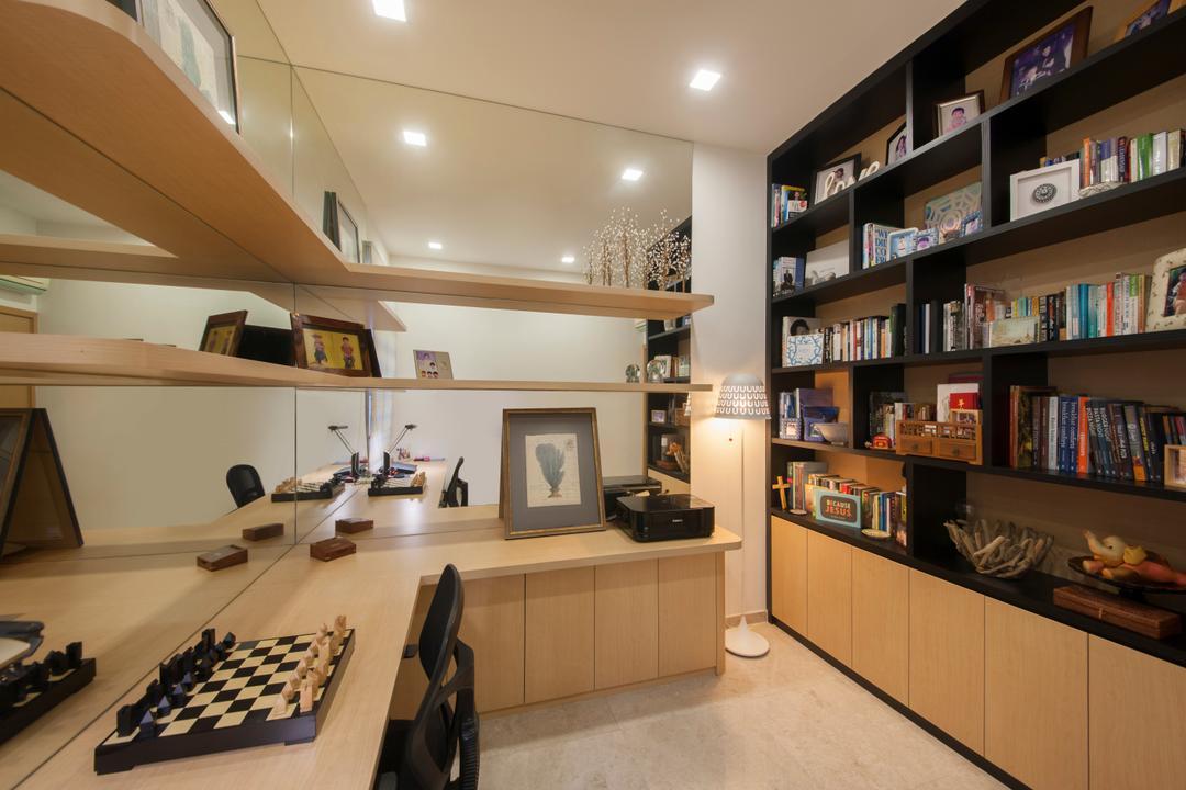 Tavistock Avenue, Schemacraft, Contemporary, Study, Landed, Chess, Game, Indoors, Interior Design