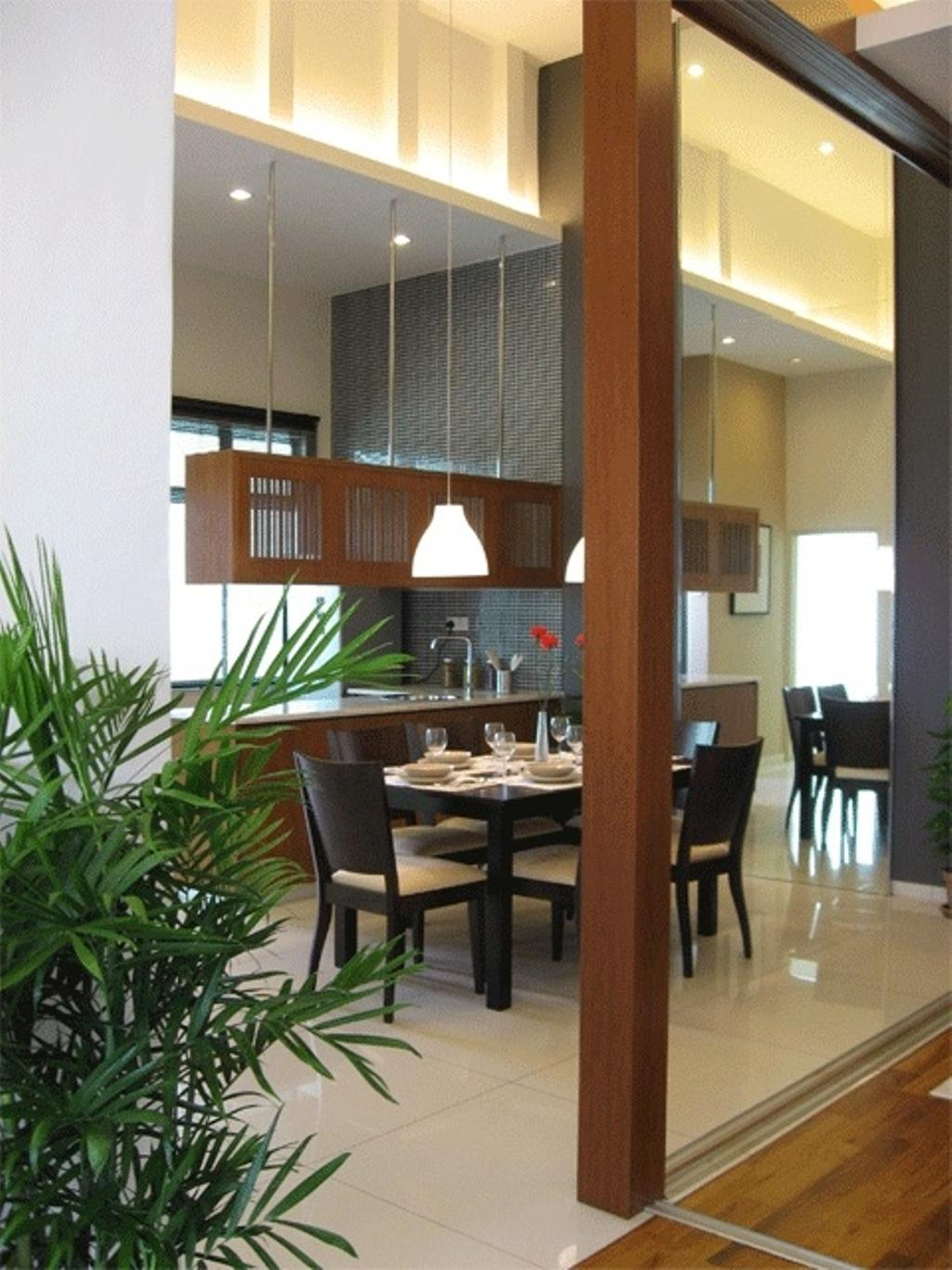 Contemporary, Condo, Dining Room, Angkasa Nuri Show Unit, Interior Designer, Arkitek U-Lin, Minimalistic, Flora, Jar, Plant, Potted Plant, Pottery, Vase, Dining Table, Furniture, Table, Indoors, Interior Design, Room, Sink, Couch, Chair
