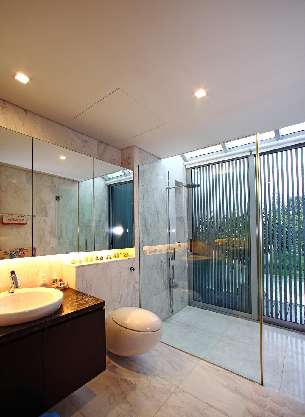 Modern, Landed, Bathroom, Lakeshore View - Sentosa, Interior Designer, Starry Homestead, Concealed Lighting, Sink, Indoors, Interior Design, Room