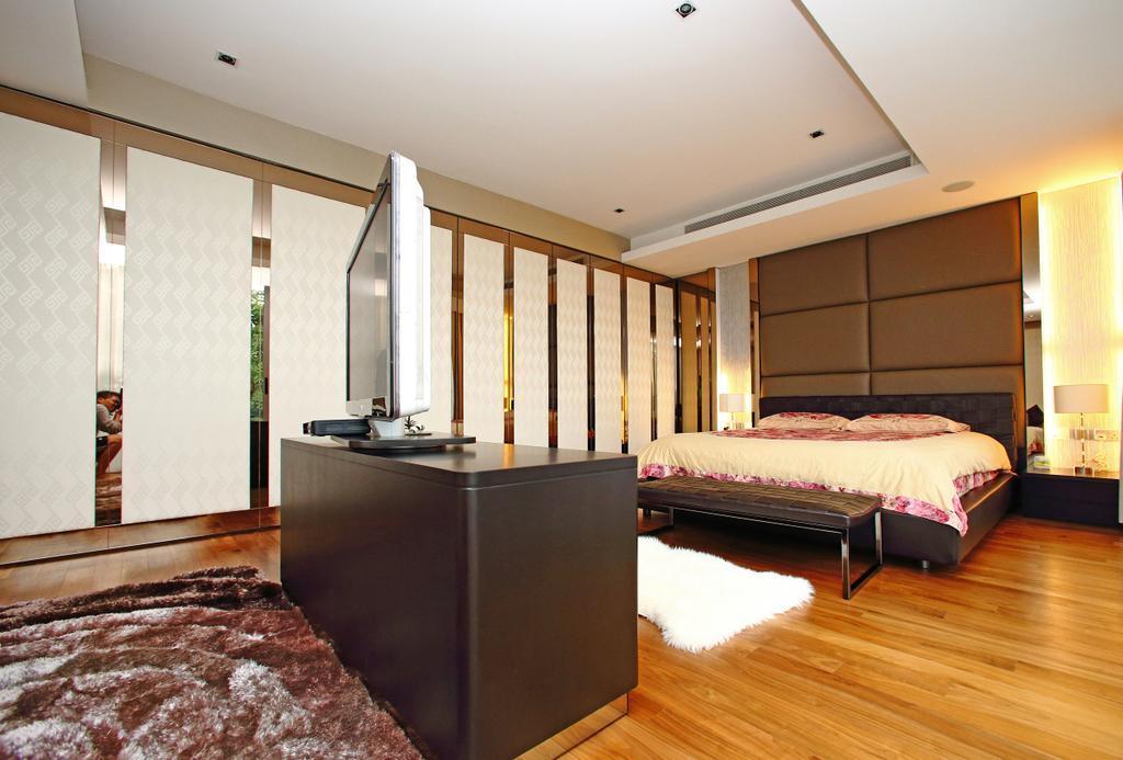 Modern, Landed, Bedroom, Lakeshore View - Sentosa, Interior Designer, Starry Homestead, Parquet, Headboard, Bed, Furniture, Indoors, Interior Design, Room