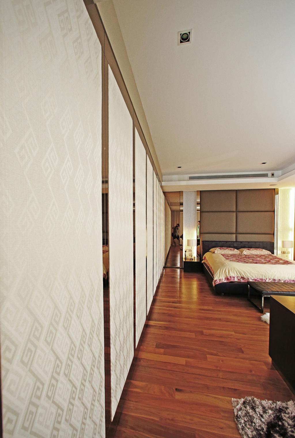 Modern, Landed, Bedroom, Lakeshore View - Sentosa, Interior Designer, Starry Homestead, Parquet, Headboard, Bed, Furniture