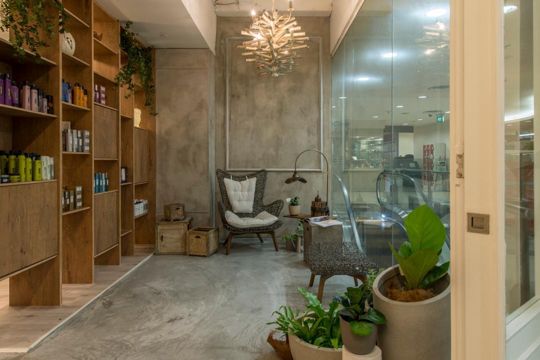 Evolve Salon, Bowerman, Eclectic, Commercial, Flora, Jar, Plant, Potted Plant, Pottery, Vase, Herbs, Planter, Indoors, Interior Design