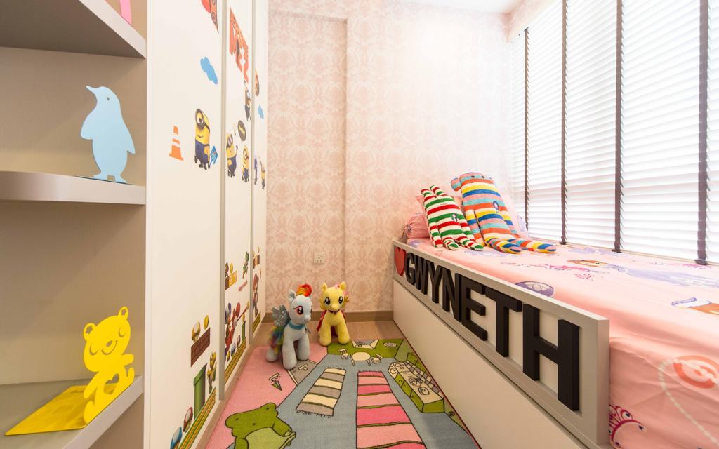 Transitional, Condo, Bedroom, Austville Residences, Interior Designer, Unity ID, Venetian Blinds, Childrens Room
